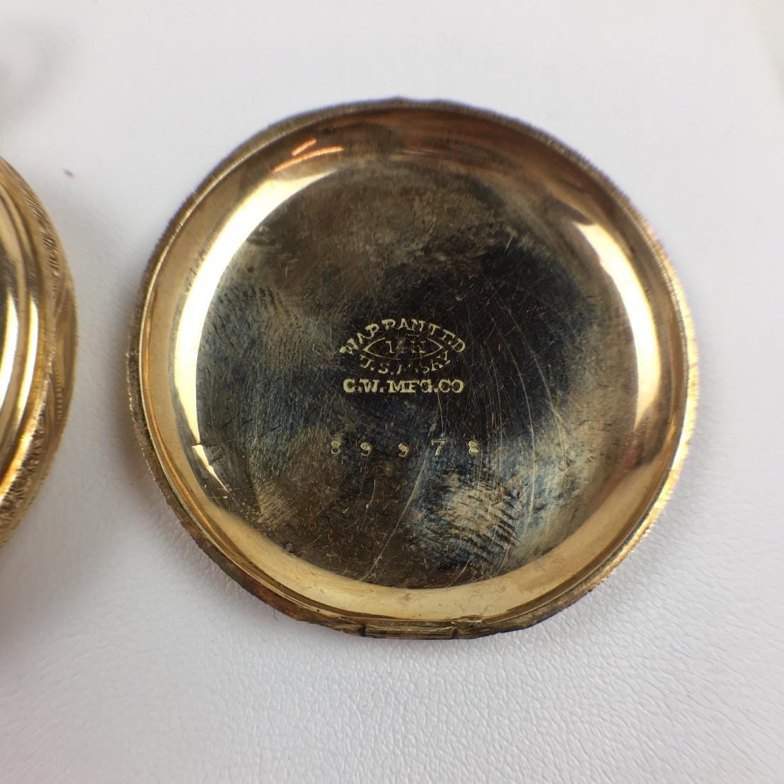 ANTIQUE 14K YELLOW GOLD ELGIN POCKET WATCH - 7