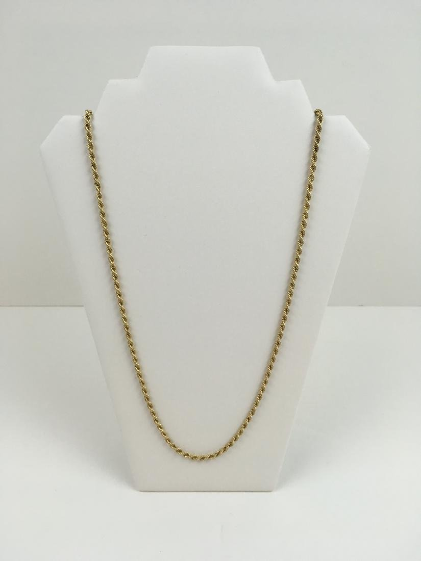 """14K YELLOW GOLD 31.75"""" ROPE NECKLACE"""