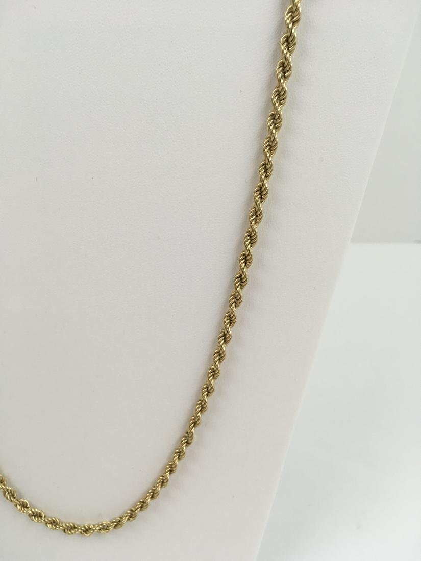 """14K YELLOW GOLD 31.75"""" ROPE NECKLACE - 3"""