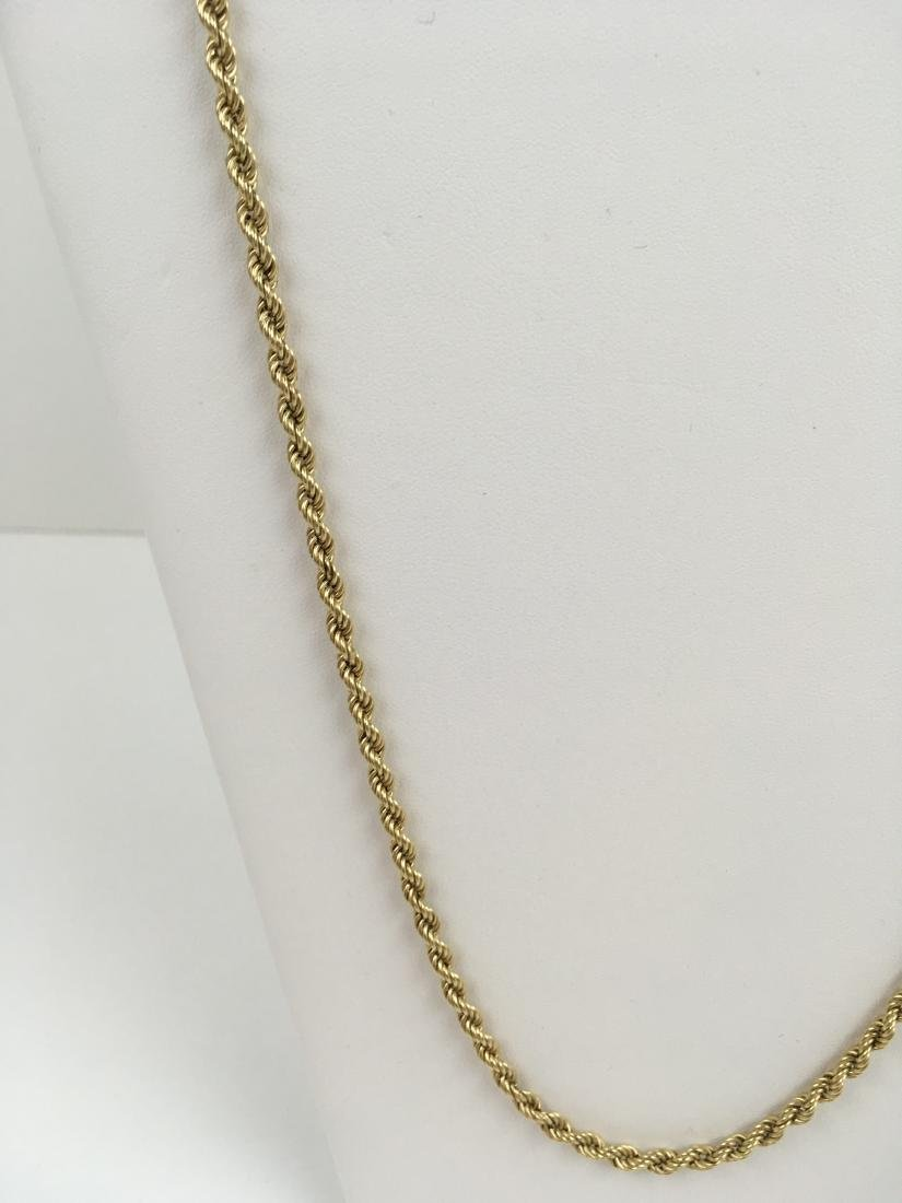 """14K YELLOW GOLD 31.75"""" ROPE NECKLACE - 4"""
