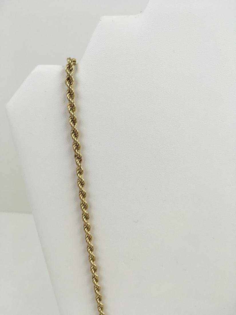 """14K YELLOW GOLD 31.75"""" ROPE NECKLACE - 5"""