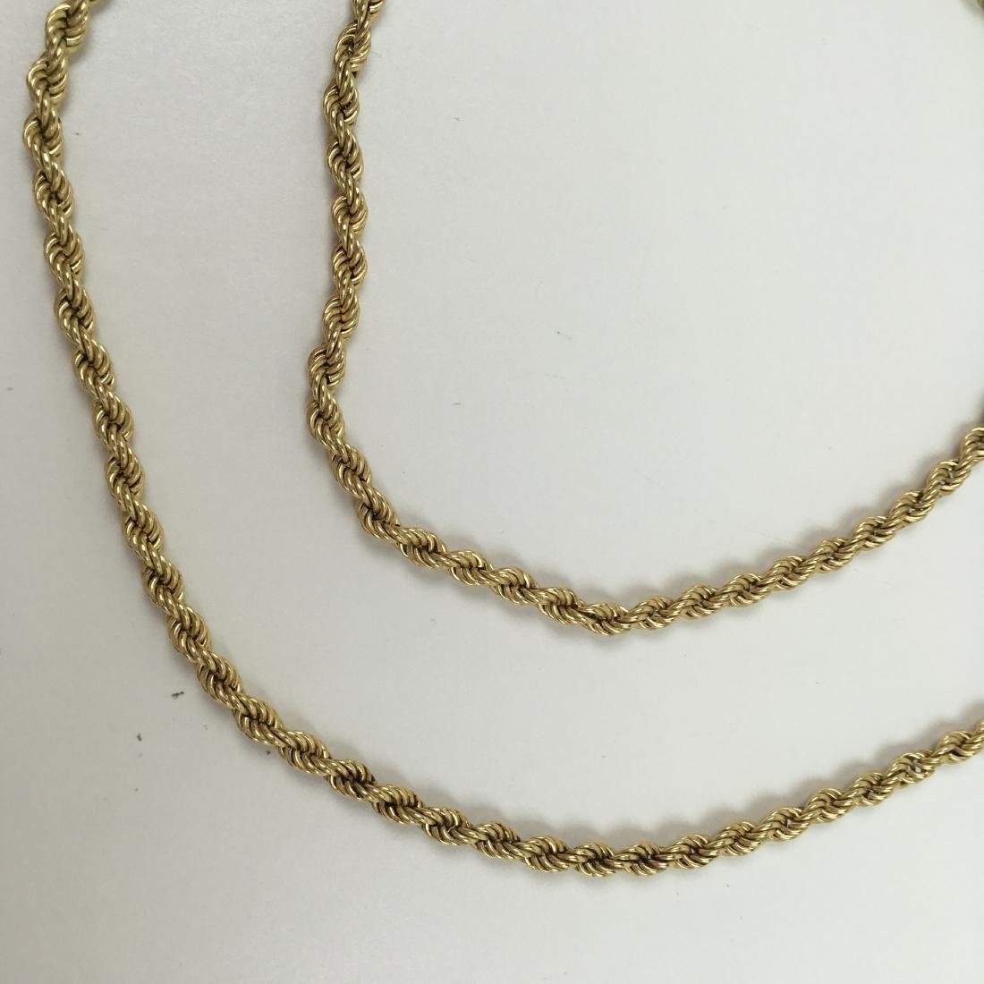 """14K YELLOW GOLD 31.75"""" ROPE NECKLACE - 8"""