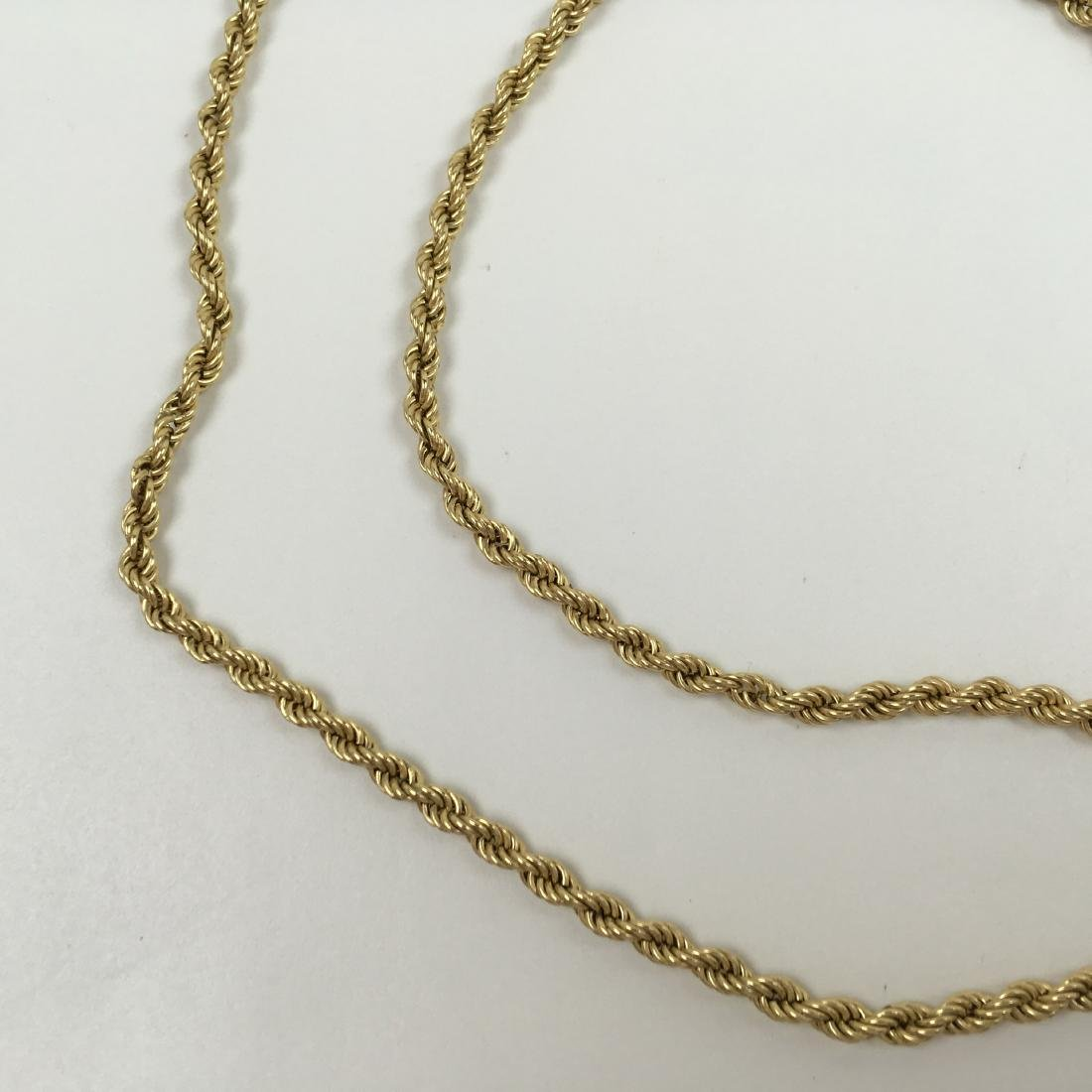 """14K YELLOW GOLD 31.75"""" ROPE NECKLACE - 9"""