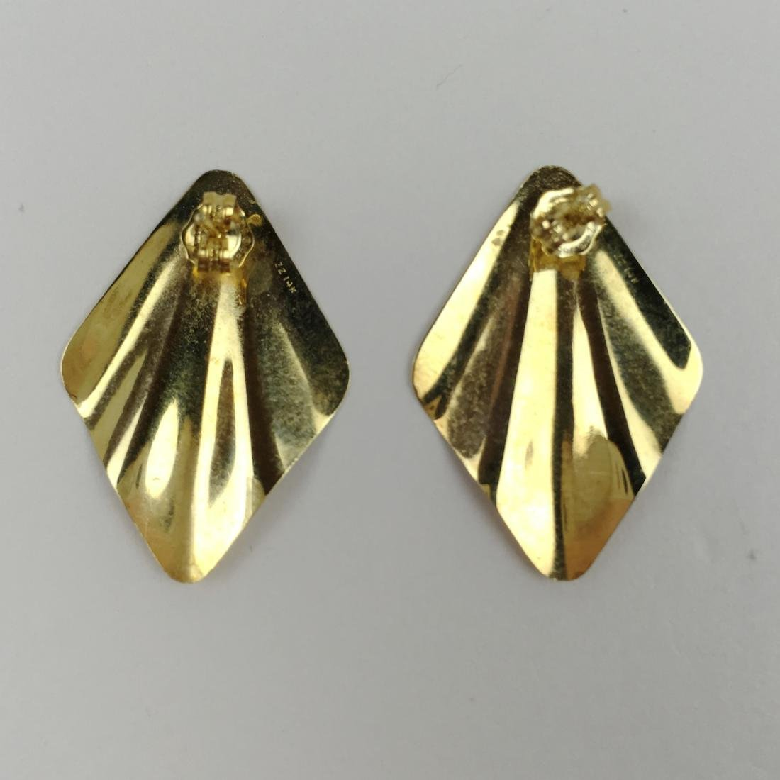 2 PRS OF 14K YELLOW GOLD EARRINGS - 3