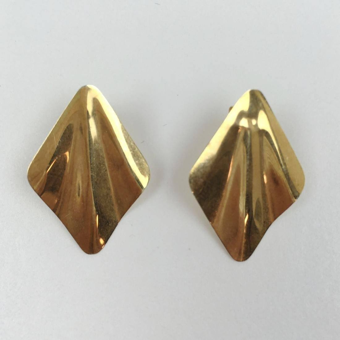 2 PRS OF 14K YELLOW GOLD EARRINGS - 4