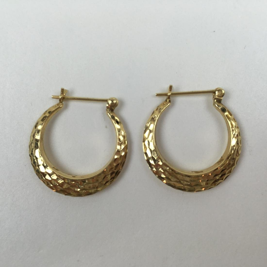 2 PRS OF 14K YELLOW GOLD EARRINGS - 7