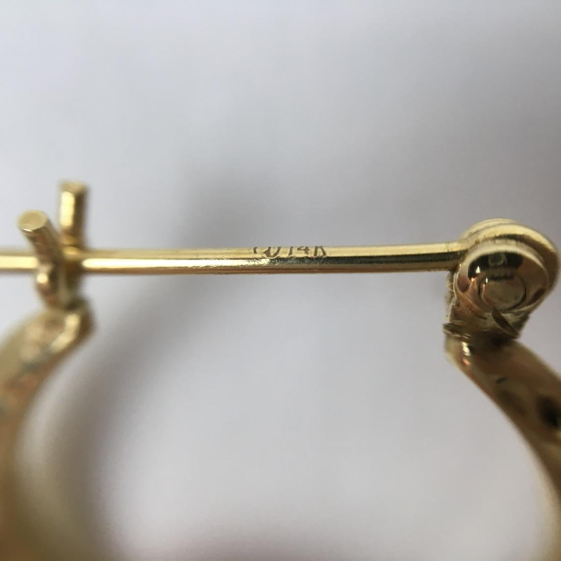 2 PRS OF 14K YELLOW GOLD EARRINGS - 9