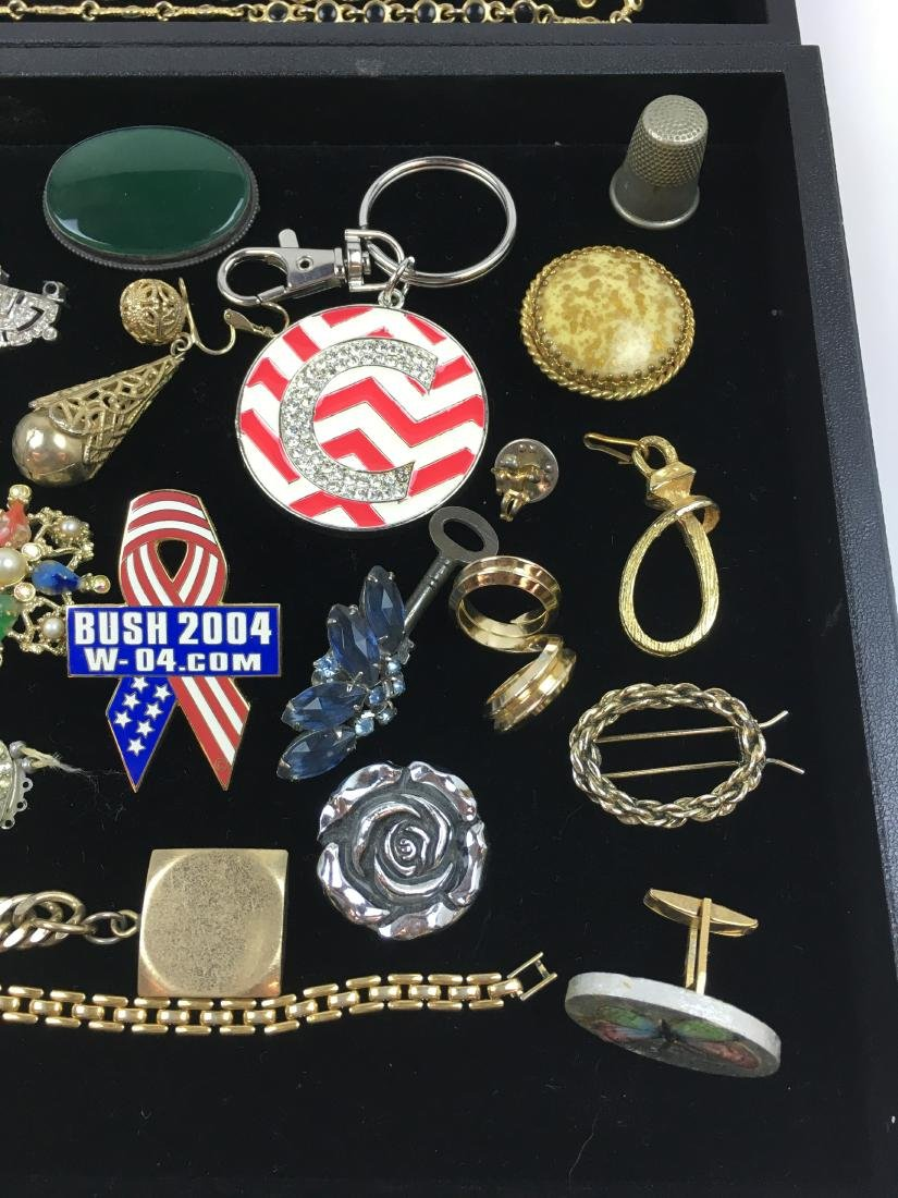 ASSORTED VINTAGE & CONTEMPORARY COSTUME JEWELRY - 10
