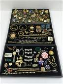 ASSORTED VINTAGE & CONTEMPORARY COSTUME JEWELRY