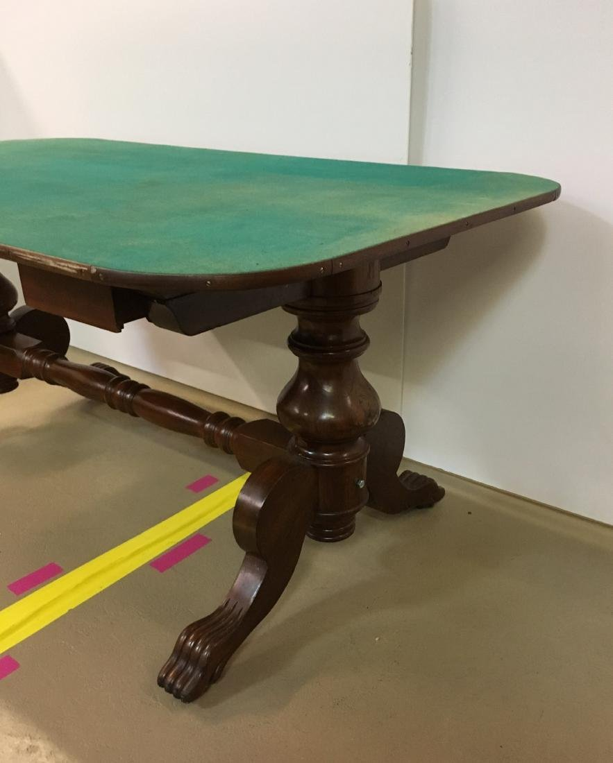 ANTIQUE FARO TABLE & CUE KEEPER - 4