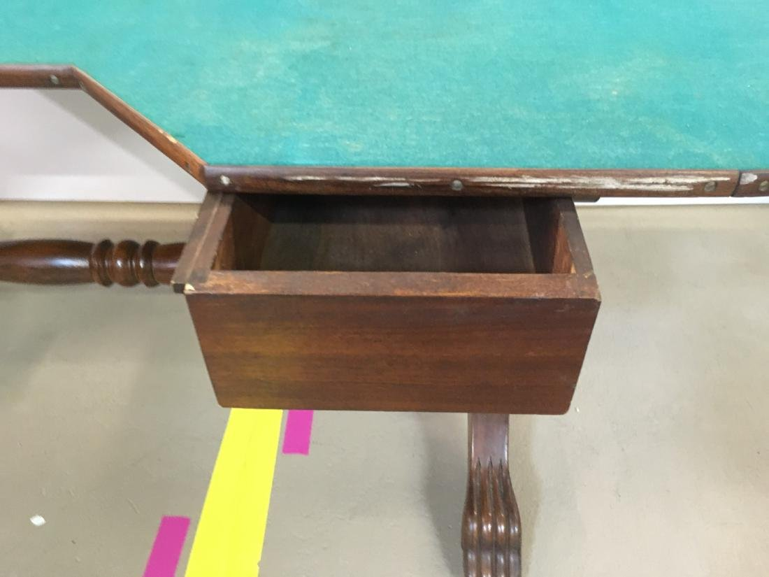 ANTIQUE FARO TABLE & CUE KEEPER - 8