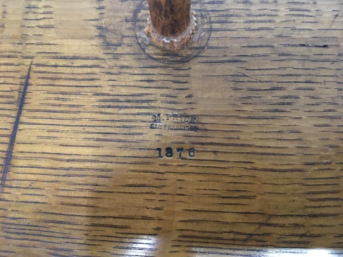 ANTIQUE 1876 M. PRICE SAN FRANCISCO GAME WHEEL - 8
