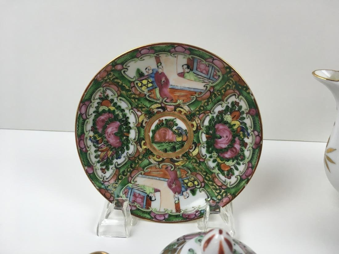 16 PCS OF HAND PAINTED FAMILLE ROSE PORCELAIN - 10