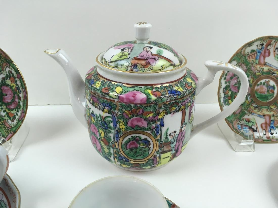 16 PCS OF HAND PAINTED FAMILLE ROSE PORCELAIN - 2
