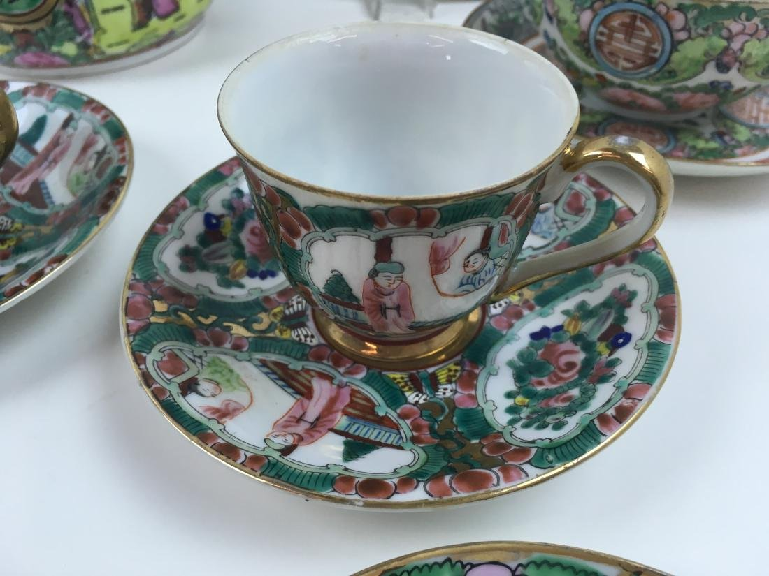 16 PCS OF HAND PAINTED FAMILLE ROSE PORCELAIN - 5