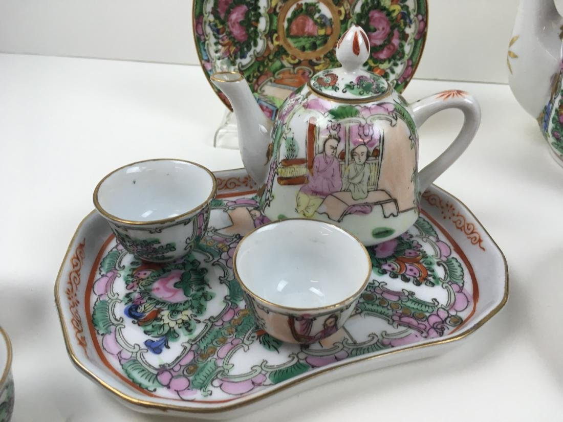 16 PCS OF HAND PAINTED FAMILLE ROSE PORCELAIN - 9
