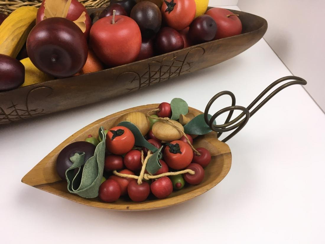 ASSORTED CARVED FRUIT WITH BOWLS & BASKET - 2