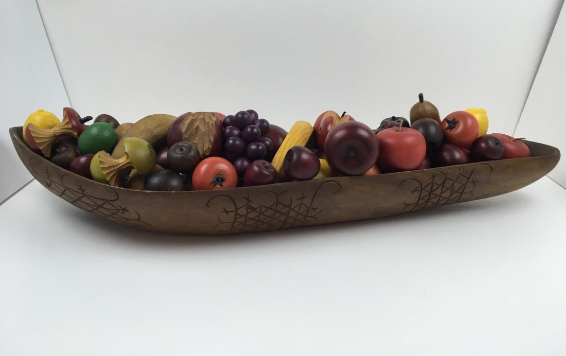 ASSORTED CARVED FRUIT WITH BOWLS & BASKET - 5