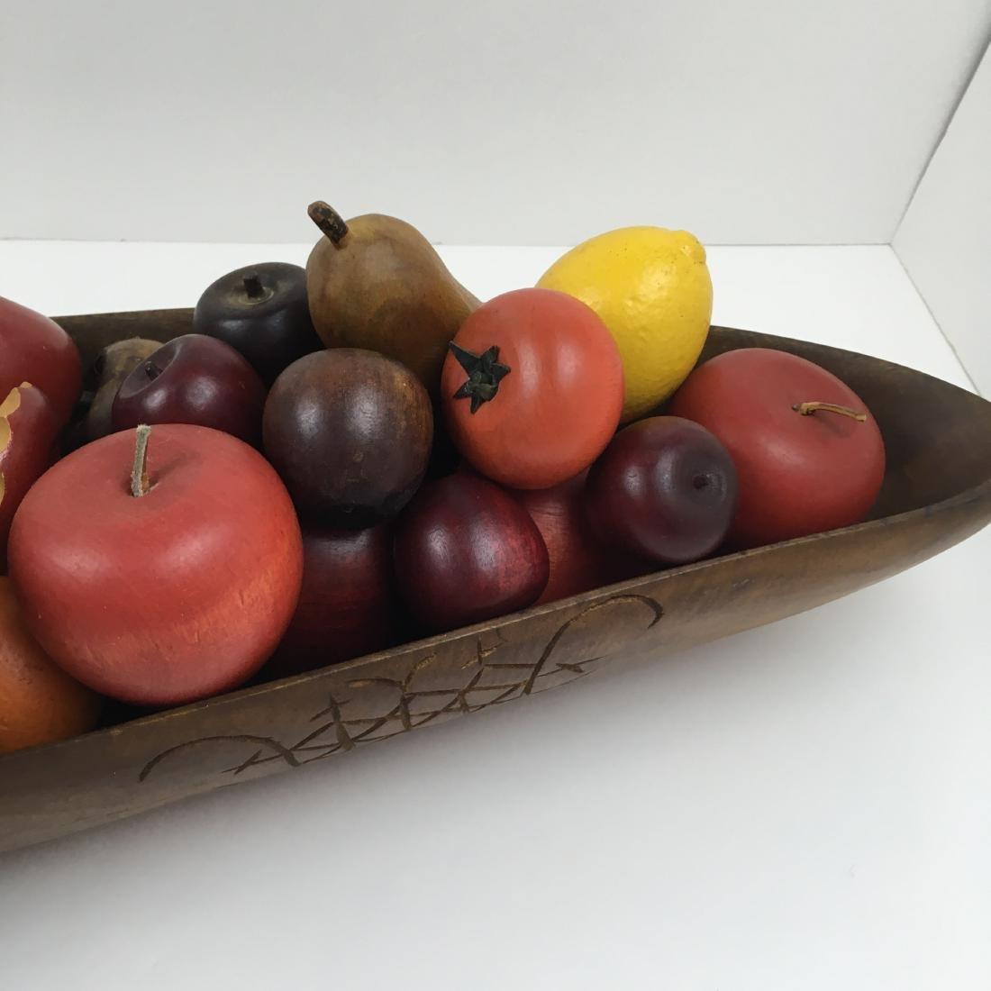 ASSORTED CARVED FRUIT WITH BOWLS & BASKET - 6