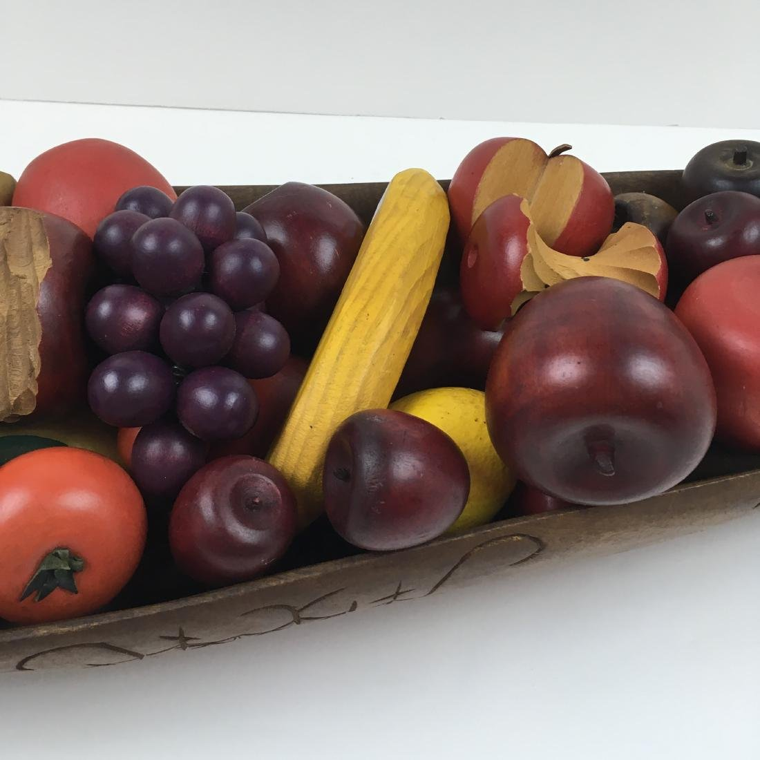 ASSORTED CARVED FRUIT WITH BOWLS & BASKET - 7
