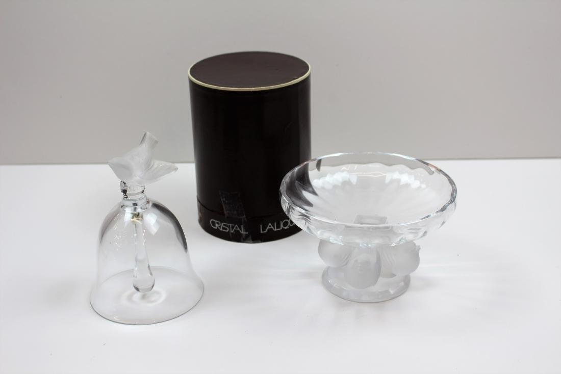 TWO PCS OF LALIQUE CRYSTAL