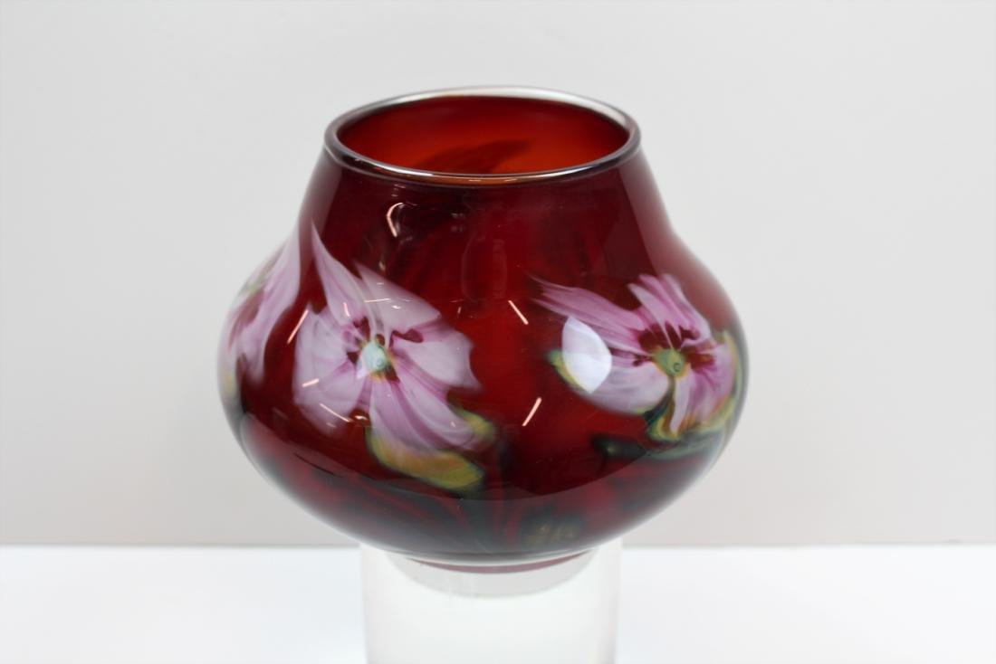 JOHN LOTTON ART GLASS VASE