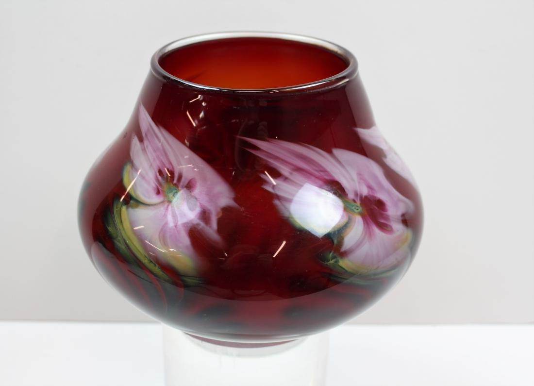 JOHN LOTTON ART GLASS VASE - 2