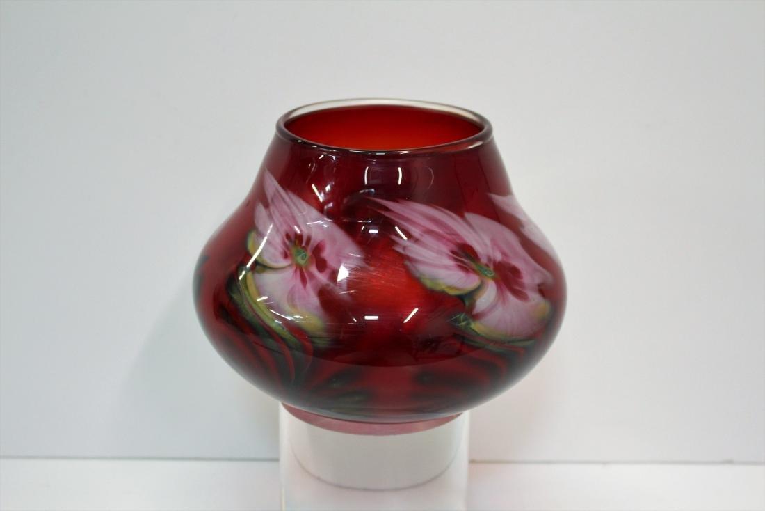 JOHN LOTTON ART GLASS VASE - 3