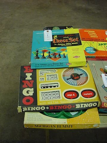 1: Three Board Games - Chess - Bingo - Michigan Rummy