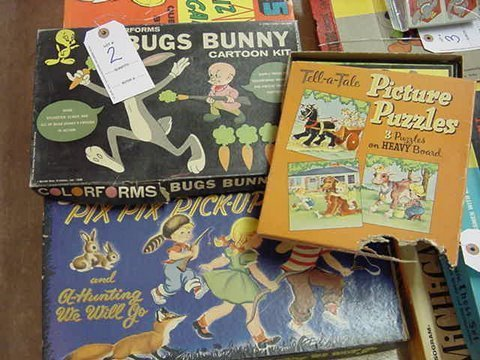 2: Three Board Games - Picture Puzzles - Bugs Bunny - P