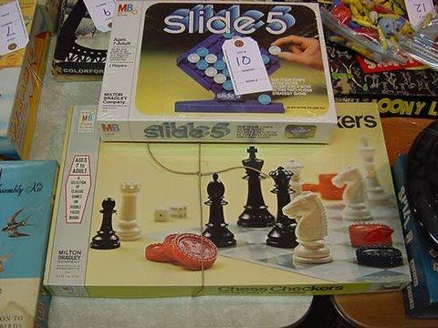10: Milton Bradley's Slide Five and Chess/Checkers - Sl