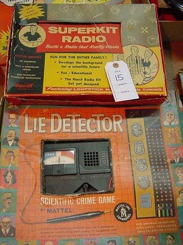 15: Superkit Radio Lie Detector by Mattel a Scientific