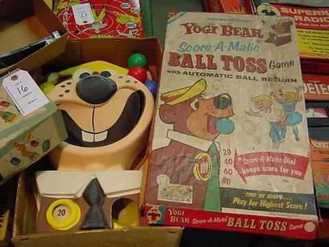 16: Vintage Yogi Bear Ball Toss and Tumble Bug an Unpre