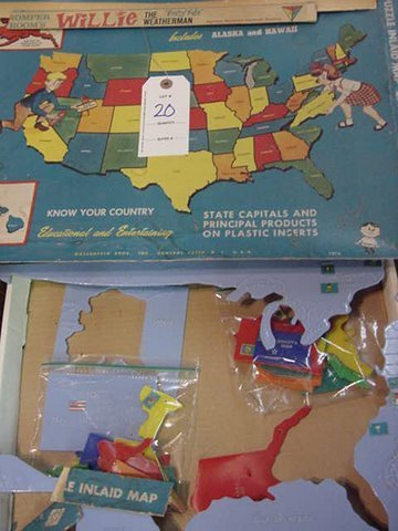20: Romper Rooms Vintage Map of the United States