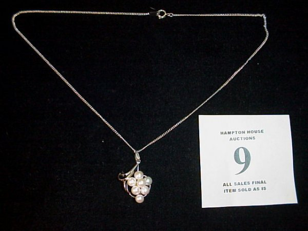 9J: Pearl Pendant on Sterling Silver Chain