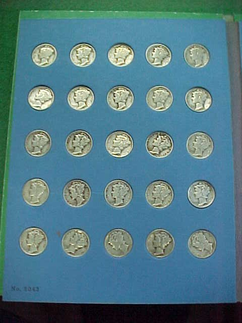 13C: Three Coin Books - Dimes  -Nickels - Quarters - Va