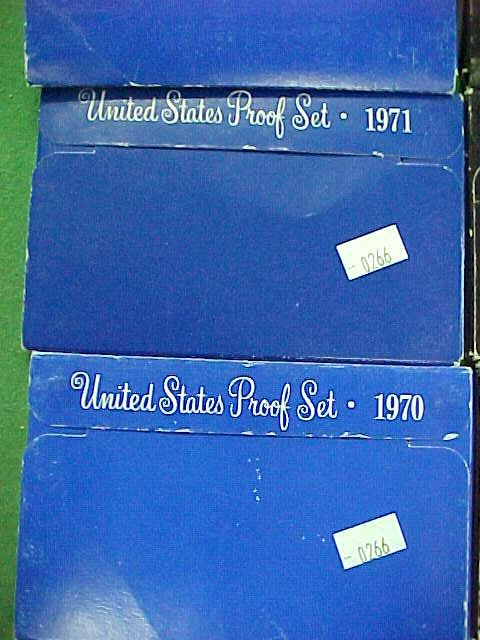 19C: Group of Mint Proof Sets - 70/71/72/73/74/75/76/77