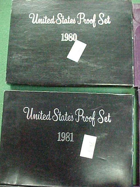 20C: Group of Mint Proof Sets - 80/81/82/83/84/86/87/89
