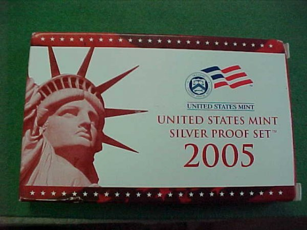 25C: 2005 Silver Proof Set in Box Includes the State Qu