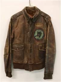 WWII ERA USAF LEATHER BOMBER FLIGHT JACKET