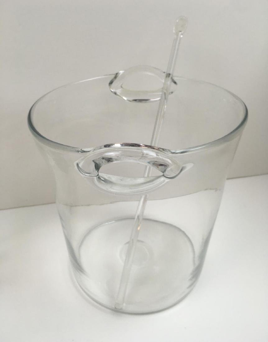 4 PCS - ICE BUCKETS, VASE AND DECANTER - 5