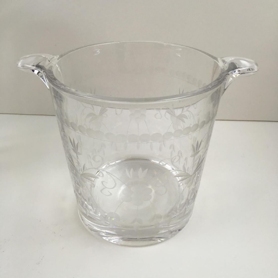 4 PCS - ICE BUCKETS, VASE AND DECANTER - 6
