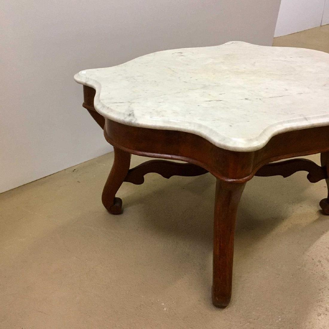 VICTORIAN MARBLE TOP TABLE - 3