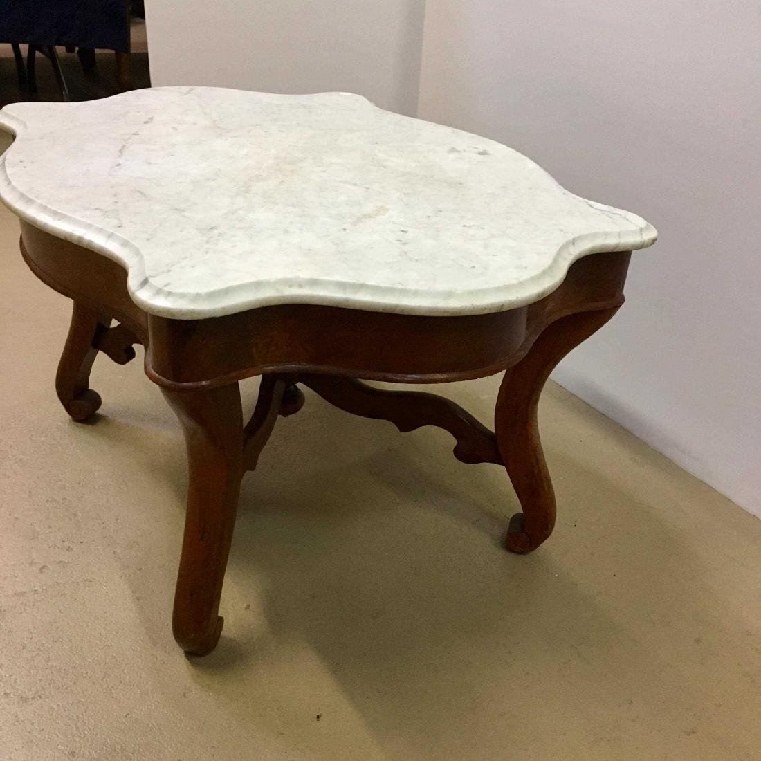 VICTORIAN MARBLE TOP TABLE - 4