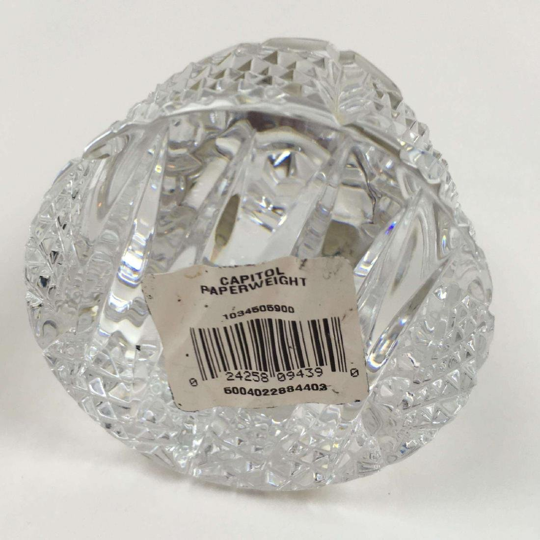 WATERFORD CRYSTAL U. S. CAPITOL DOME PAPERWEIGHT - 7