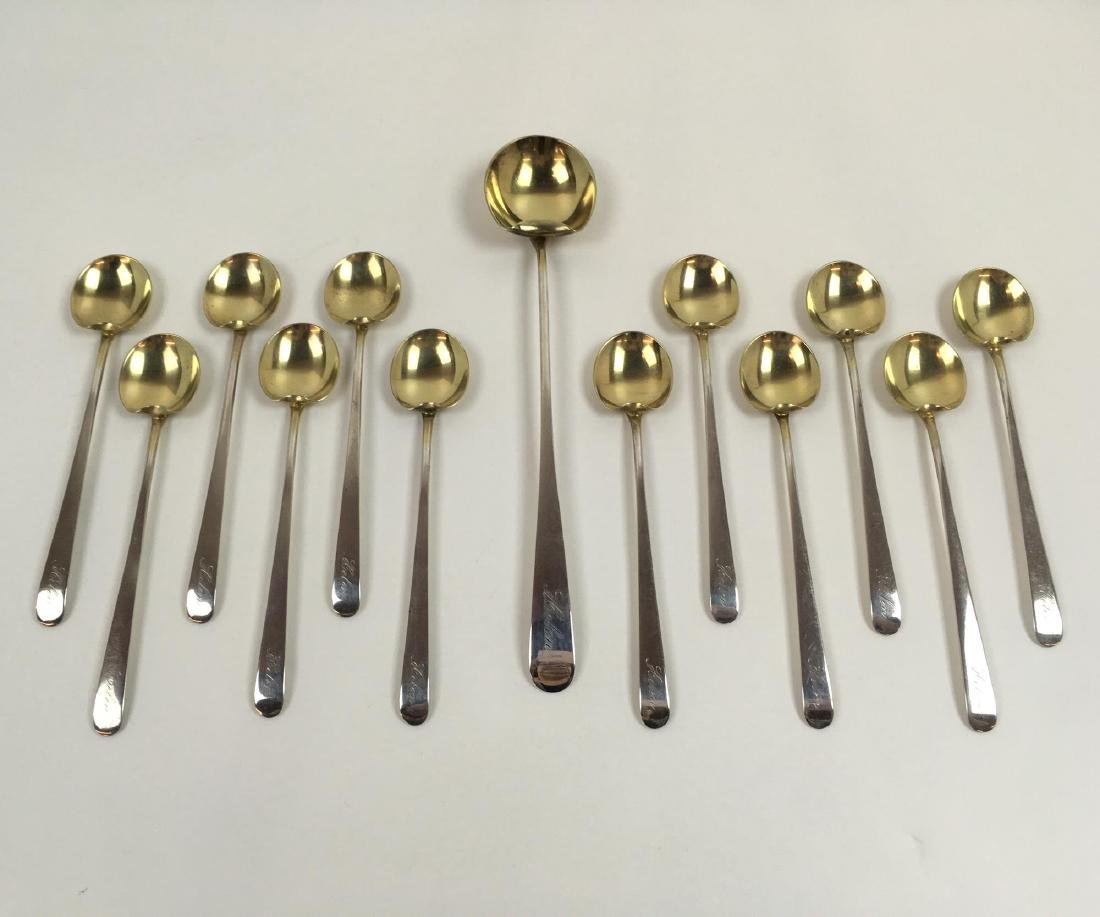 13 PCS OF STERLING FLATWARE BY MARCUS AND CO.