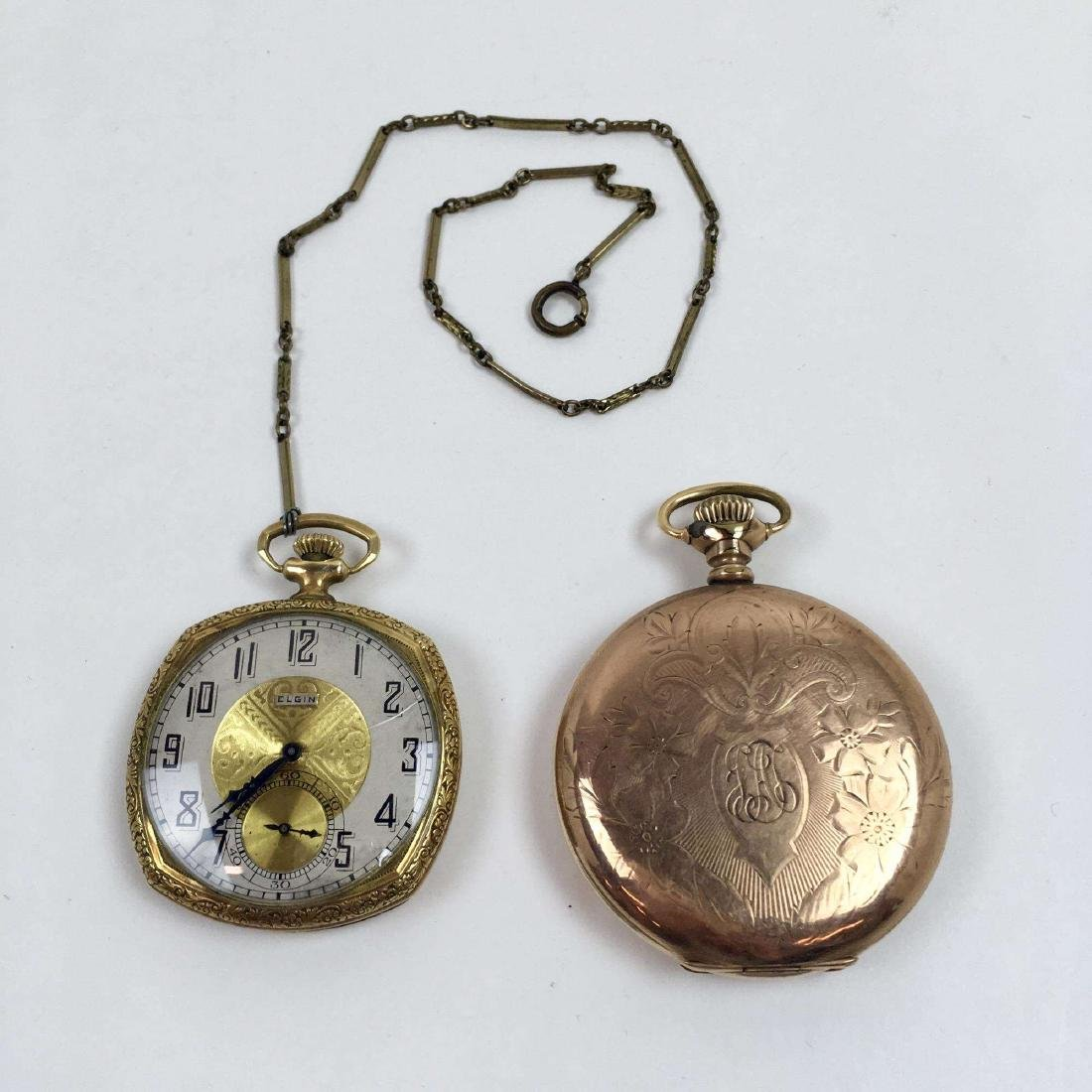 TWO VINTAGE ELGIN POCKET WATCHES