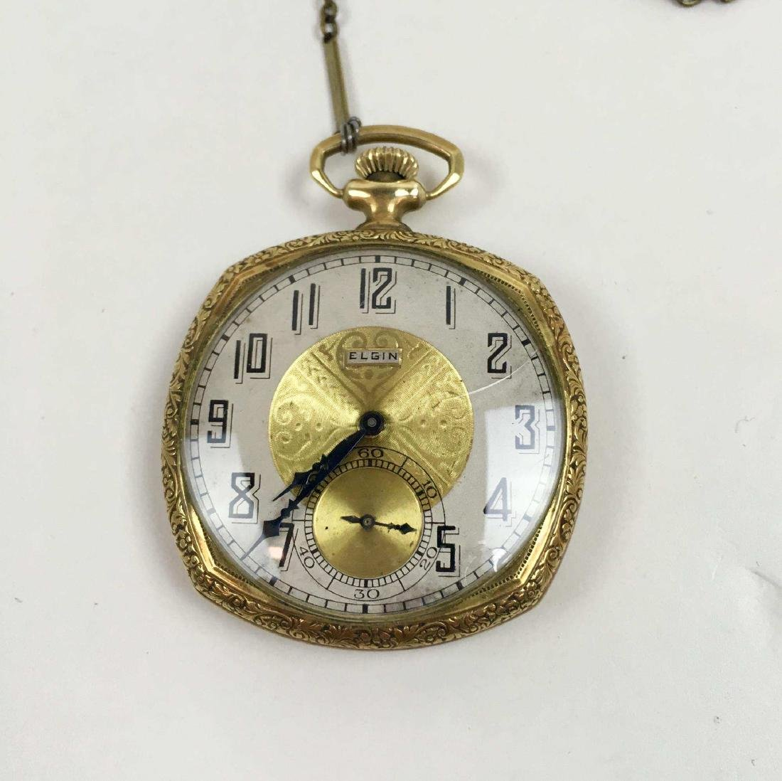 TWO VINTAGE ELGIN POCKET WATCHES - 2