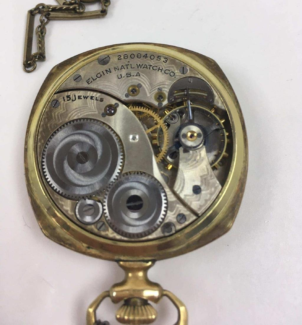 TWO VINTAGE ELGIN POCKET WATCHES - 5