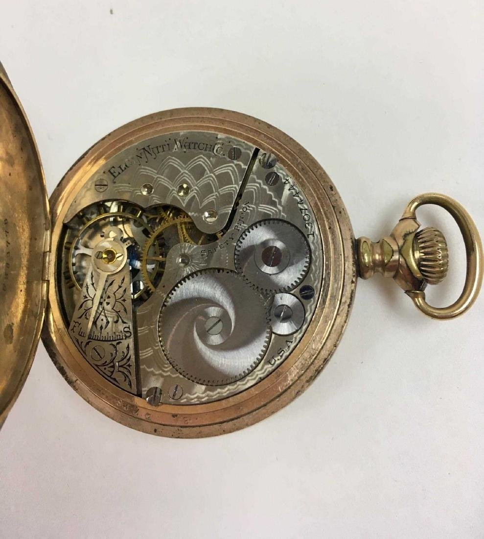 TWO VINTAGE ELGIN POCKET WATCHES - 8